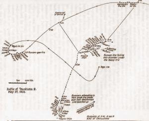 Batalla de Tsushima. Fase I